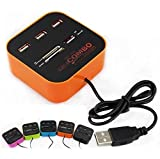 Technotech All In One COMBO Card Reader & 3 Port USB 2.0 Hub (Color May Vary)