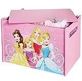 Disney Prinzessin -  Spielzeugkiste für Kinder – Aufbewahrungsbox für das Kinderzimmer