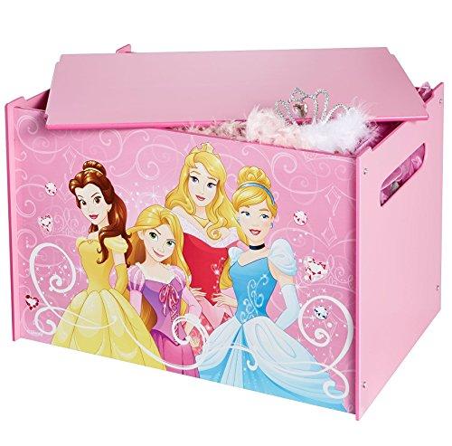 Disney Prinzessin -  Spielzeugkiste für Kinder – Aufbewahrungsbox für das Kinderzimmer (Disney Prinzessin Theme)