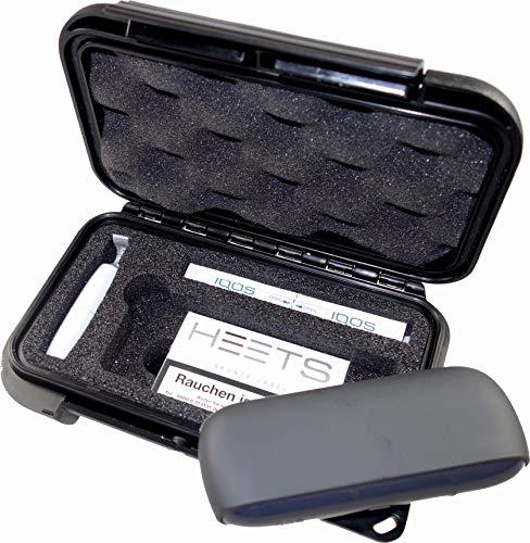 MAX PRODUCTS Transportbox Etui für ORIGINAL IQOS 3 mit passender Hartschaumeinlage für Pocket Charger, Holder, Heets, Reinigungsstift, Reinigungs-Sticks (Nicht enthalten!) -