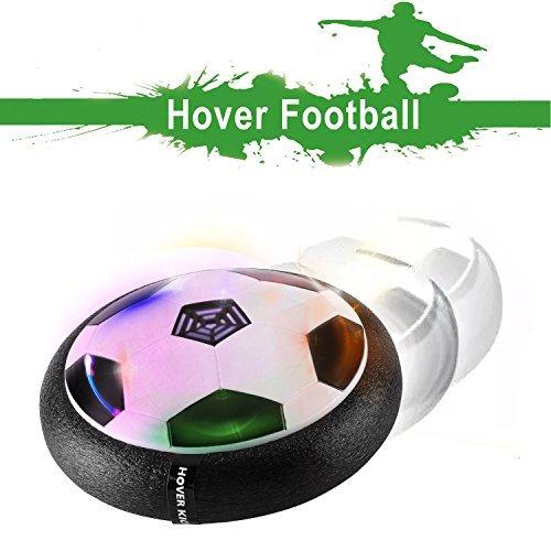 BULUGOU Air Power Fußball - Baztoy Hover Power Ball Indoor Fußball mit LED Beleuchtung, Perfekt Zum Spielen in Innenräumen ohne Möbel Oder Wände zu beschädigen - Fußball Inspirierende