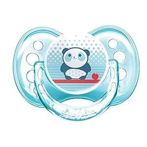Luc et Léa Les Ludiques Sucette Silicone + 6 Mois - Modèle : Panda
