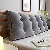uus Big Bedhead Kissen Soft & Bequeme Rückenlehne Schöne Home Decoration Square Pattern Wasit Care Muti-nützliche Kissen 180 * 15 * 50cm ( Farbe : M )