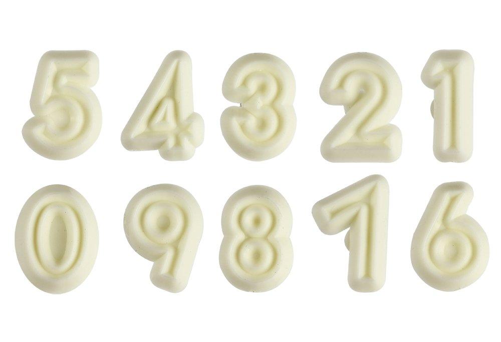PME-Stampi in plastica numeri 0-9 10