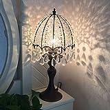 Crayom Amerikanische Tischlampe Schlafzimmer Hochzeitsgeschenk Nachttischlampe Retro Dimmable Dekorative Kristall Lampe Jane Europäische Mittelmeer Pastoral Hochzeit Tisch Lampe ( Color : Pearl white trumpet )