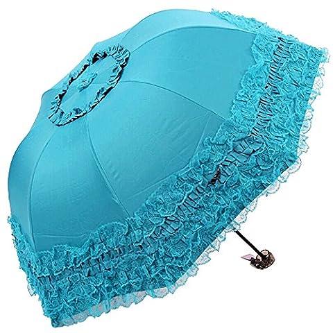 Honeystore Princess Lace Ultraviolet-Proof Folding Umbrella Anti-uv Dome Parasol