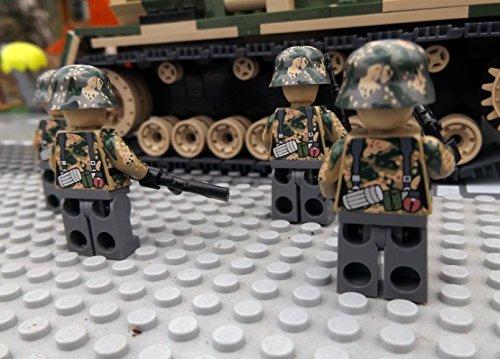 Modbrix 9919 – ✠ 2 Stück Custom Minifiguren STURMPIONIERE Deutsche Wehrmacht Soldaten aus original Lego® Teilen ✠ - 5
