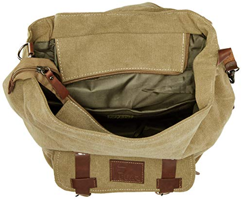 Best canvas backpack in India 2020 F Gear Colossal 22 Ltrs Khaki Canvas Backpack Image 5