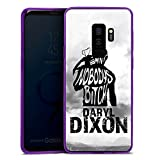 DeinDesign Samsung Galaxy S9 Plus Slim Case lila Silikon Hülle Schutzhülle The Walking Dead Spruch Daryl Dixon