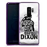 DeinDesign Samsung Galaxy S9 Plus Slim Case lila Silikon Hülle Schutzhülle The Walking Dead Spruch Daryl Dixon