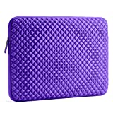 Evecase 17 - 17.3 inch Laptop Sleeve, Diamond Foam Neoprene Universal Case Bag for Chromebook, Ultrabook, Acer, Asus, Dell, Fujitsu, Lenovo, HP, Samsung, Sony, Toshiba Notebook Computer - Purple