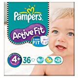 Pampers Active Fit Größe 4 + (9-20kg) Essential Pack Maxi Plus-3x36 pro Packung