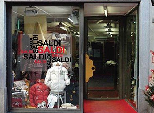 Vetrofania scritte saldi - adesivi vetrine negozi
