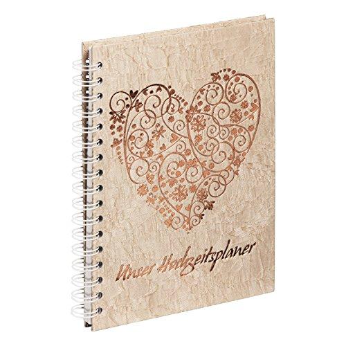 Pagna 12238-15-Organizer per Matrimonio, 170x 240mm, in Cartone, Sweet Heart Gold 96S