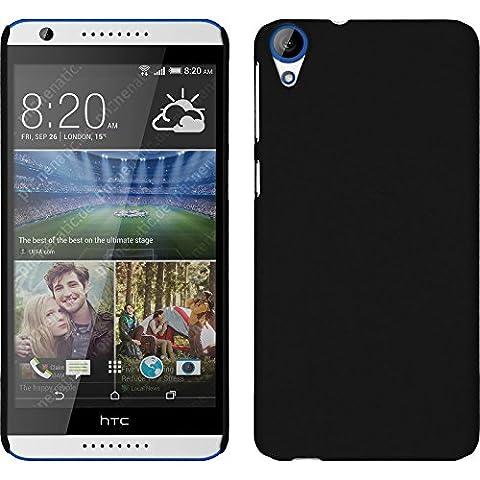 Coque Rigide pour HTC Desire 820 - gommée noir - Cover PhoneNatic Cubierta + films de protection