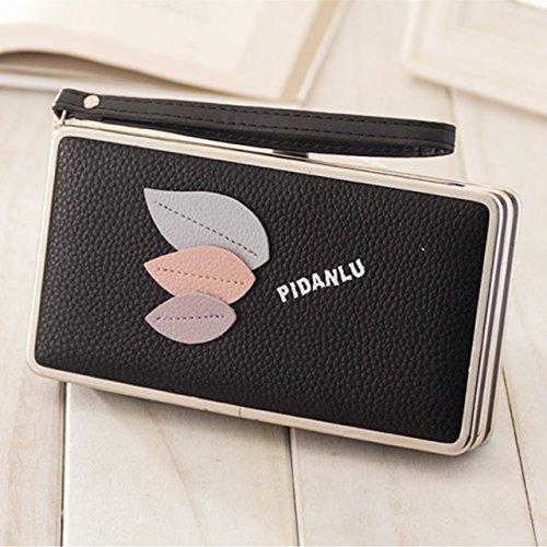 Portafogli da Donna Borsa con Foglia d'albero, Sunroyal Multifunzionale [Grande capacità] Smartphone Wristlet Custodia Case Cover per iPhone 7 /7Plus /6S /6S Plus /6 /6Plus /SE /5S, Samsung Galaxy S8  Modello 18