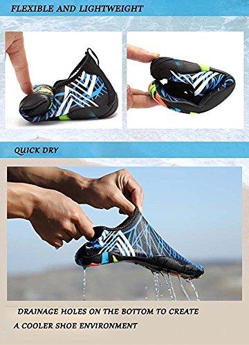 VILOCY Herren Damen Strand Pool Meer Schwimmen Toggle Slip On Trainers Schnell trocknend Aqua Wasser Schuhe Erwachsene Lila