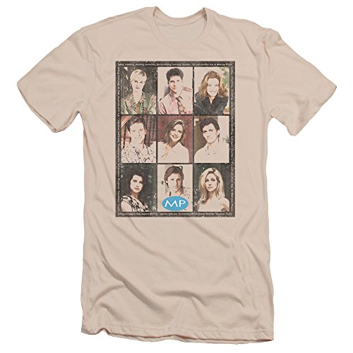2Bhip Melrose Place CBS TV Series Season 2 Cast Squared Adult Slim T-Shirt Tee
