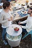Keter Cafe- und Loungetisch, Cool Bar, grau / weiß, 49,5 x 49,5 x 84,5 cm, 17186745 -