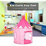 KARP Play House - Portable Foldable Luminous Cubby House Castle Play Tent with Carry Case - Pink & White Color