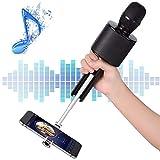 Micrófono Karaoke Bluetooth, Mbuynow TWS Micrófono Inalámbrico con Altavoz Incorporado para Cantar Función de Eco Party, Compatible con Android/iOS, PC o Smartphone (Negro)