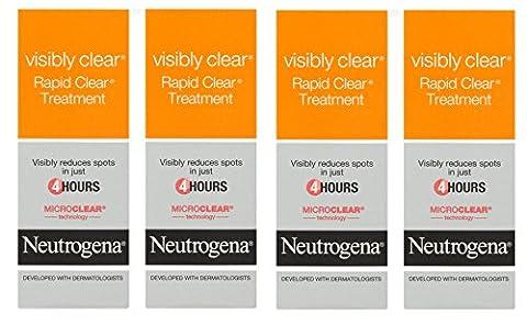 4x Neutrogena Visibly Clear Rapid Clear Spot Treatment 15ml