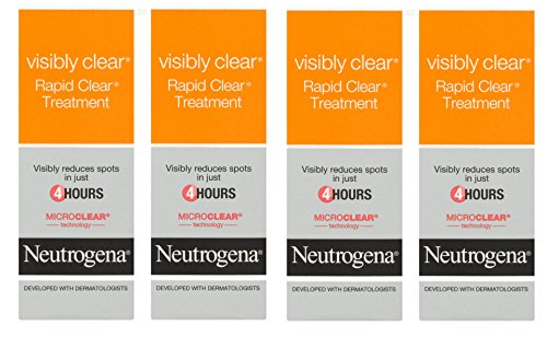 4 x Neutrogena visibilmente Clear Rapid Clear spot treatment 15 ml
