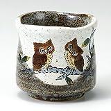 Japanese Yunomi Tea Cup Owl KUTANI YAKI(ware) by Kutani