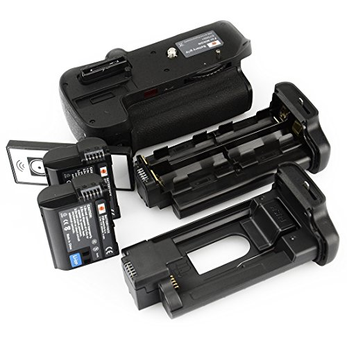 DSTE Multi-Power Battery Grip Pack With Wireless Remote Control for Nikon D7000 as MB-D11 SLR Camera + 2pcs EN-EL15 Li-ion Battery Multi Power Battery Grip
