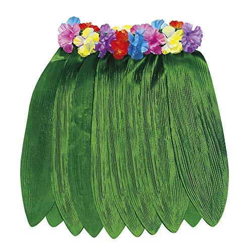 Widmann 3375T - Hawaiirock mit Bananenblättern und Blumengürtel, Circa 40 cm