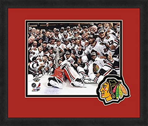 NHL Chicago Blackhawks Team 8x10-Inch Full Color Logo Mat Photograph, Red by Photo File