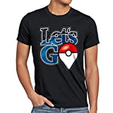 A.N.T. Let's Go Poké Ball T-Shirt da Uomo Mostri Videogioco, Dimensione:S