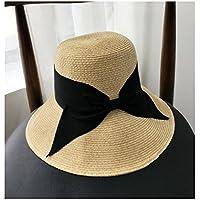 XIAOXINYUAN Cappello di Paglia Sunscreen Estate Donne Sole Hat Nuova  Spiaggia Spiaggia Hat Sun Bow Archetto a66e11a2d48a