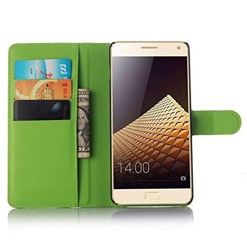 Easbuy Pu Leder Kunstleder Flip Cover Tasche Handyhülle Case Mit Karte Slot Design Hülle Etui für Lenovo Vibe P1 Smartphone Handytasche