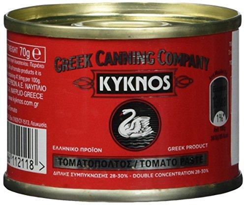 Kyknos doppelt konzentrierte Tomatenpaste 28-30{d79ff14119d7f6a2733737ed011f592d4098cf814028cd2a0ae56b08a7bada8b} - 70g Dose, 6er Pack (6 x 70 g)