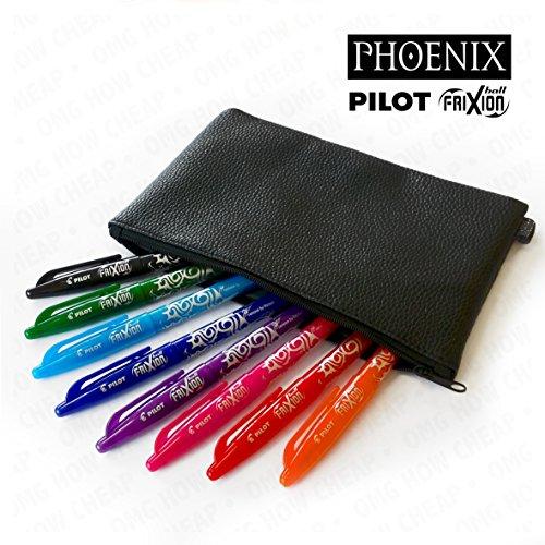 pilot-frixion-set-de-stylos-roller-effacables-avec-trousse-phoenix-aspect-cuir