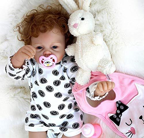 OUBL 22inch 55 cm Haute qualité Magnétisme Jouet Cadeaux Yeux Fermer Pas Cher Reborn Baby Doll Poupée Fille Vinyle Silicone Souple de Bebe
