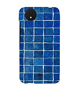 Blue Bricks Pattern 3D Hard Polycarbonate Designer Back Case Cover for Micromax Canvas Android A1 AQ4501 :: Micromax Canvas Android A1