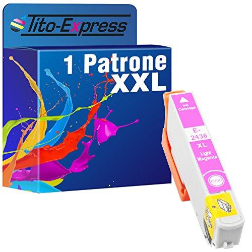 Tito-Express PlatinumSerie 1x Druckerpatrone XXL TE2436 Light Magenta kompatibel mit Epson Expression Photo XP-55 XP-750 XP-760 XP-850 XP-860 XP-950 XP-960 1 X Light Light