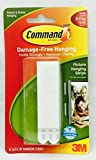 3M Command Strips Hooks Decorating Damage Free Picture Poster Hanging All Purpose Use Utility Photo Decoration Hook (Velcro Sticky Strips, Narrow Strips)