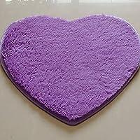 Zantec Alfombra en forma de corazón super suave, alfombra antideslizante, alfombra de agua absorbente fuerte para el hogar 30cm * 40cm con 7 colores para la opción