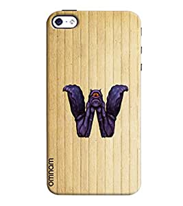 Omnam Single Name Stylish Alphabet W Printed Designer Back Cover Case For Apple iPhone 4/4s