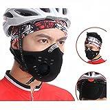 FakeFace Outdoor Ventile Staubmaske mit Filter Aktivkohle Masken Atemschutzmaske Reiten Radfahren Windproof Masken für Damen und Herren