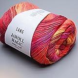 Lang Yarns Sockenwolle 150 g Jawoll Magic 6-fädig, Fb. 60 rot-orange