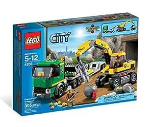 LEGO City 4203: Excavator Transport