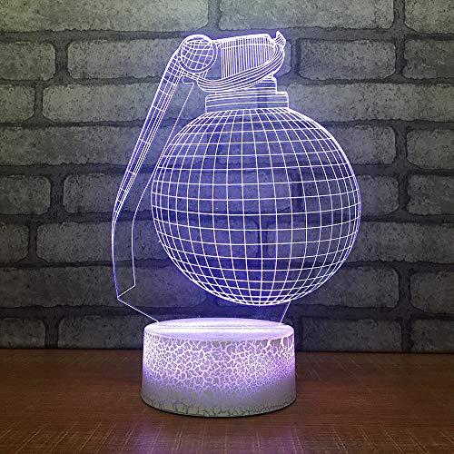YDBDB Nacht Dekor 7 Farbwechsel 3D Led Parfüm Flaschen Modellierung Schreibtischlampe Visuelle Nachtlicht Usb Touch Button Schlafzimmer Leuchte -