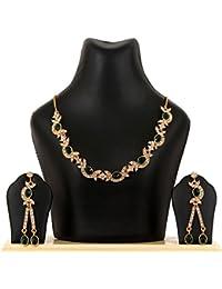 Kpax Fashions Golden Color Alloy Necklace Set For Women,KPX33