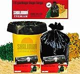 #4: Shalimar Premium Garbage Bags (Large) Size 60 cm x 81 cm 6 Rolls (90 Bags) (Trash Bag/ Dustbin Bag)