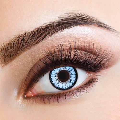 Lenti a contatto colorate Blue Magic by aricona - Jahreslinsen für helle Augenfarben, mit Stärke -2 Dioptrien, Farblinsen als Modeaccessoire für den täglichen Gebrauch