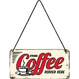 Nostalgic-Art 28009 USA Strong Coffee Served Here, Hängeschild, 10 x 20 cm